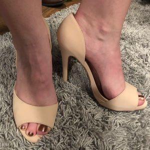 Qupid Shoes - Qupid Cream Heels. 4 inch heels